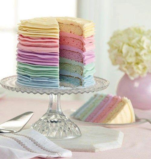 pastel de tonalidades pastel