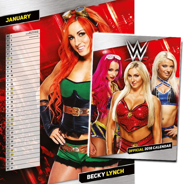 Make a date with your favourite wrestling female stars with the new official WWE Woman's 2018 Calendar. Including popular stars such as Naomi, Nikki Bella and Summer Rae. This 12 month official calendar is a month to view poster style wall calendar, with date panel for each month and notable dates throughout.