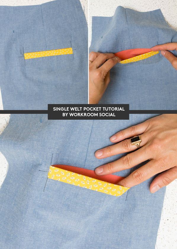 Tutorial: How to make single welt pockets - Workroom Social