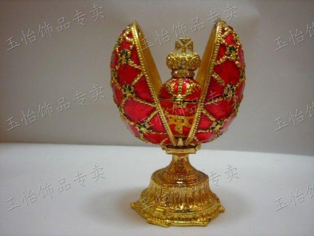 Tinwares russie. diamond metal bijoux boîte à oeufs oeuf boîte d'anneau décoration artisanat
