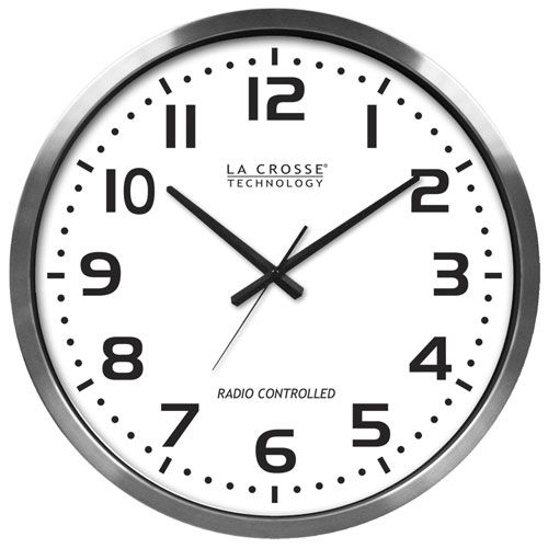 20 Inch Atomic Analog Wall Clock Lacrosse Technology Wall Mounted Clock Clocks Home Decor