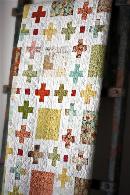 Love the combination of crosses and squares!
