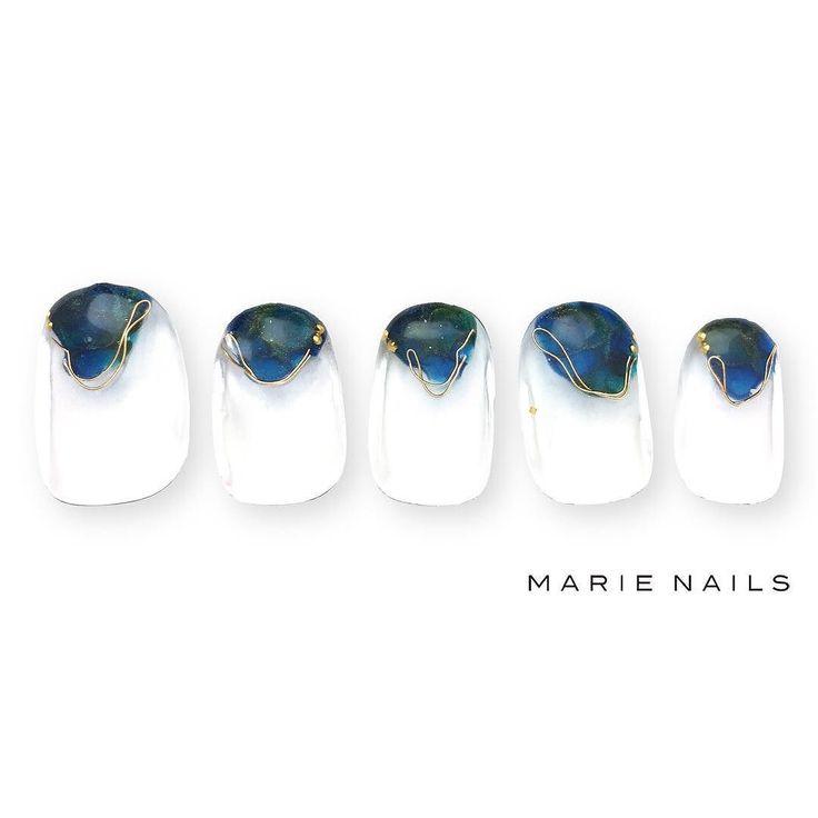 #マリーネイルズ #marienails #ネイルデザイン #かわいい #ネイル #kawaii #kyoto #ジェルネイル#trend #nail #toocute #pretty #nails #ファッション #naildesign #awsome #beautiful #nailart #tokyo #fashion #ootd #nailist #ネイリスト #ショートネイル #gelnails #instanails #marienails_hawaii #cool #french #blue