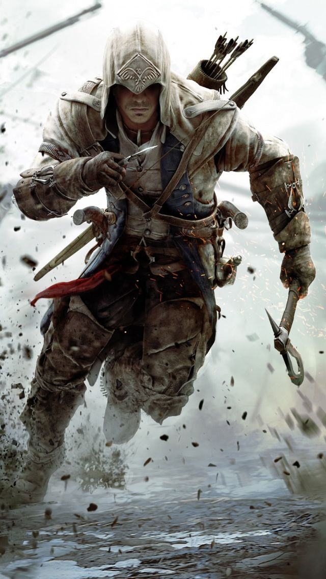 Assassins Creed 3 Connor Free Running iPhone 5 Wallpaper