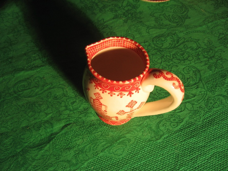 Milkman, porcelain, handmade.    Молочник из фарфора.