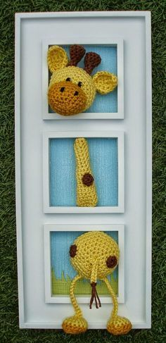 Rosa acessórios em tricô & crochê: Girafinhas