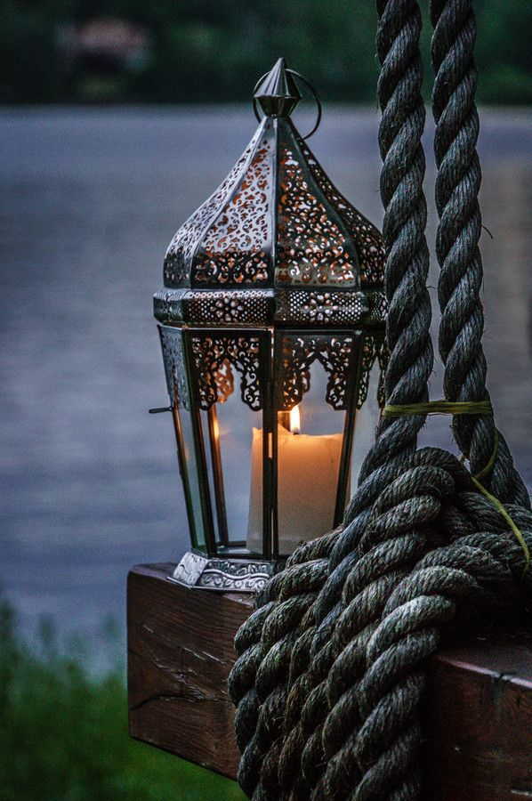 All things bright and beautiful.... — orchidaorchid:   Evening lantern by Bassam Sabbagh