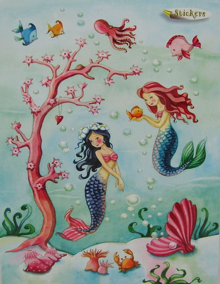 **Nina Chen*Postkarte*Sticker*Meerjungfrau(en)*Muschel*Fisch*Aufklebepostkarte | eBay