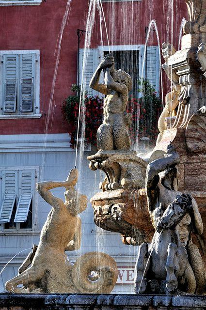Trento - Fontana del Nettuno (1768) by bautisterias, via Flickr