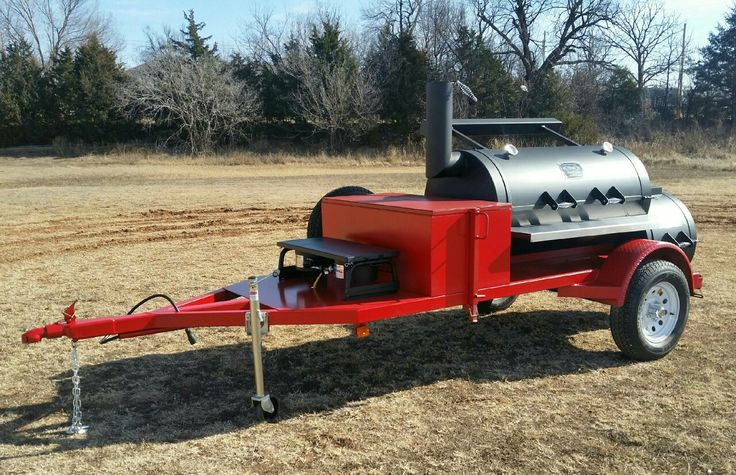 "This Beautiful 30"" Diameter Single Door Horizon Trailer Smoker was sold to a couple from Sanger, TX! #KCBSCookoffs #HorizonSmokers #BBQ Order yours today! www.horizonbbqsmokers.com  1-866-468-4066"