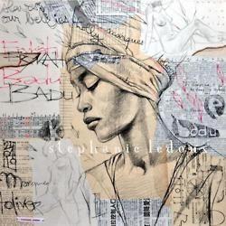 Mixed Media Portraits by Stéphanie Ledoux