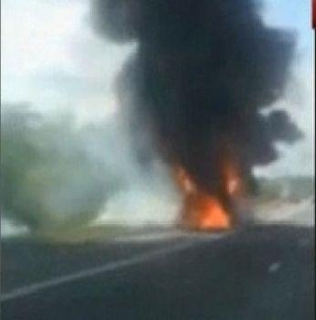 Un autocar cu şapte pasageri a luat foc, joi, pe Autostrada Bucureşti-Piteşti, la kilometrul 96. Din fericire, nu a fost nimeni rănit. Maşina efectua o c