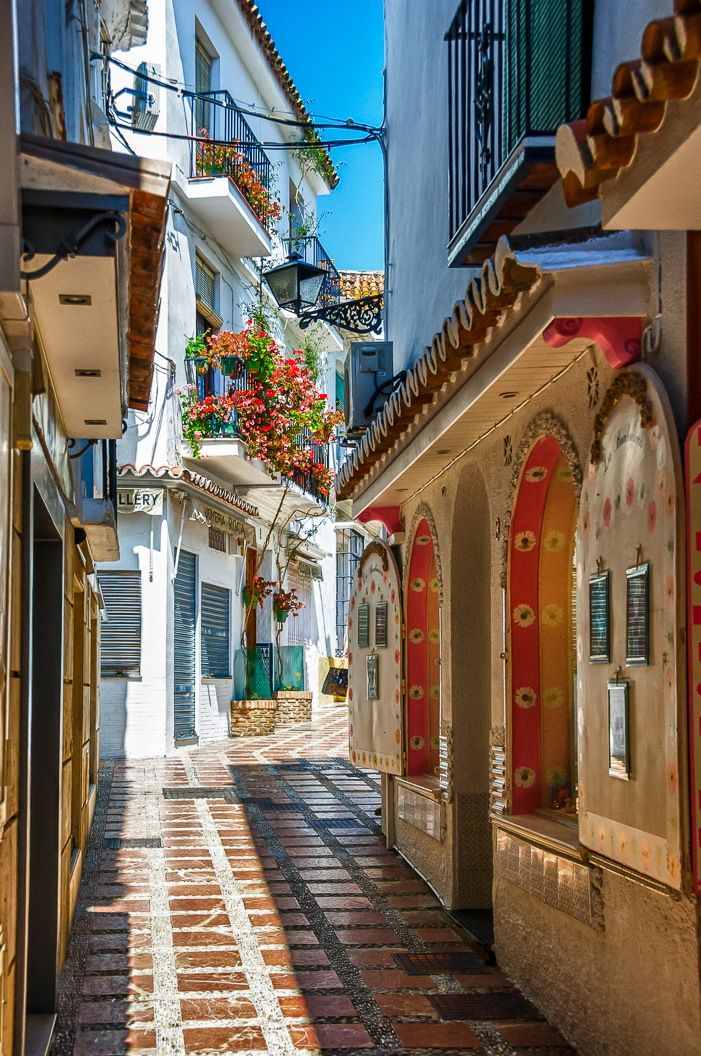 Colorful Streets of Marbella, Spain