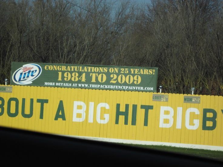 I have been a huge Green Bay packers fan since around 1996 and since 2004 I have attended one game every season at Lambeau Field. This fence sits across from the stadium and the owner of the house there paints it with a different saying every year. Man, I love Wisconsin!: Green Bay, House
