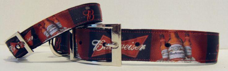 Corona Beer Dog Collar, Budweiser Beer Dog Collar, Ribbon Dog Collars and Leashes by ZAMORAS on Etsy