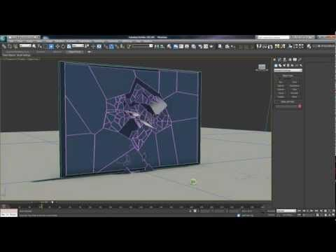 3ds Max 2012 Mirror Shattering (Mass FX) Tutorial (1/3)