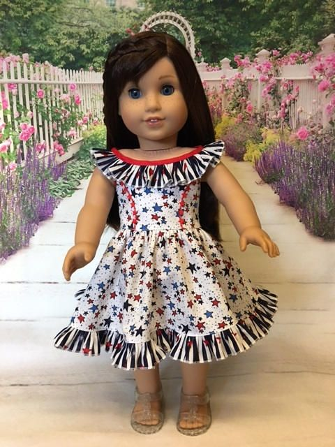 Stars and Stripes fits American Girl Doll and 18 inch dolls by WeeWhimzyWardrobe on Etsy