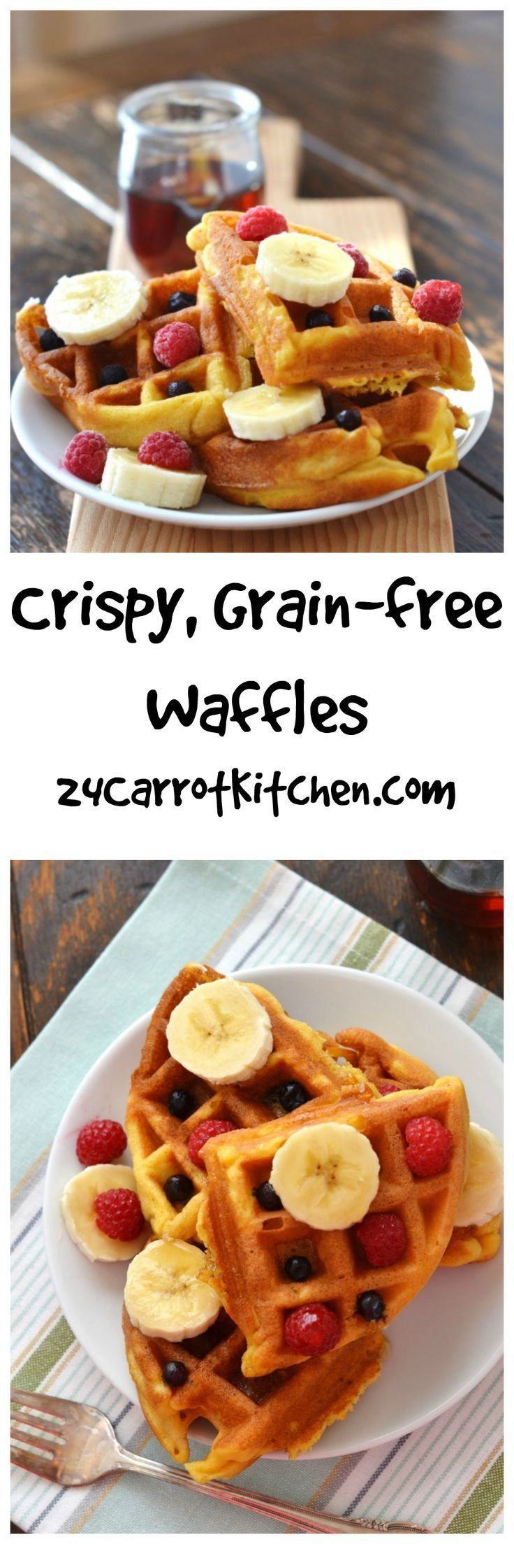 The BEST Crispy Paleo and Vegan Waffles! Grain-free, gluten-free, dairy free and kid friendly! Make extra and store in your freezer!