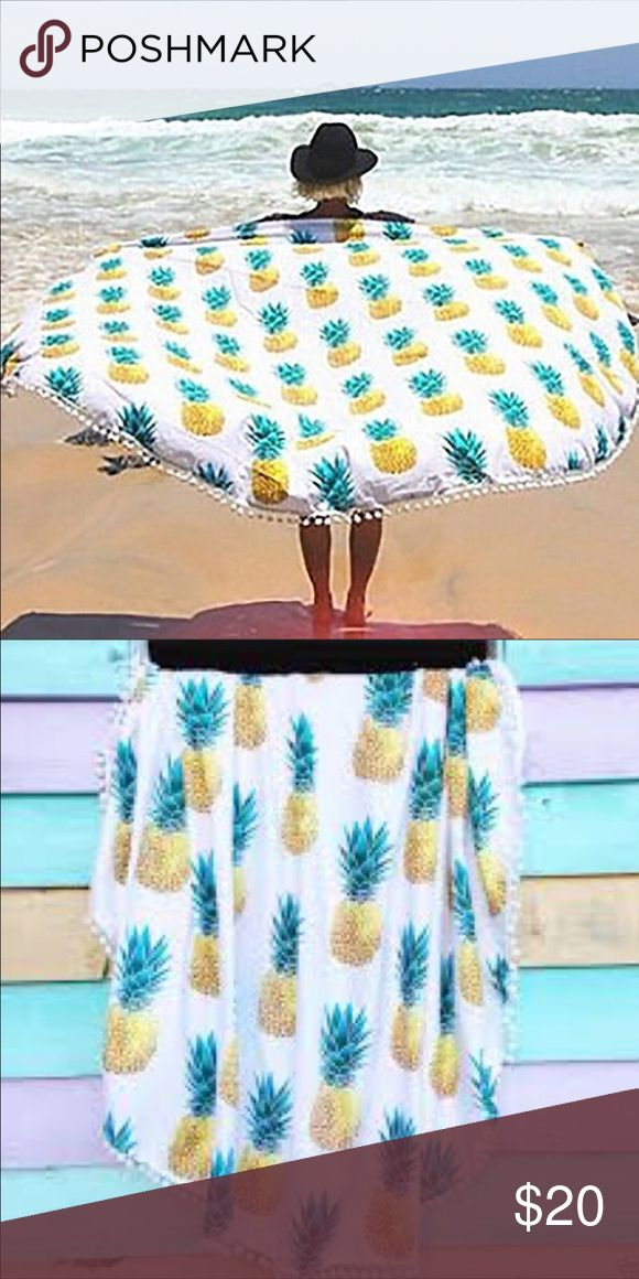 Pineapple Beach Blanket Cover Up Wrap This is a pineapple beach Blanket 130 x 130 cm. Never been used. Still in packaging. The material is able to be wiped down so it's perfect for the beach or picnic. Nordstrom Swim Coverups