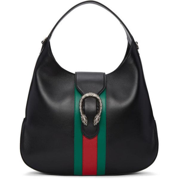 Gucci Black Dionysus Hobo Bag (£1,450) ❤ liked on Polyvore featuring bags, handbags, shoulder bags, black, hobo handbags, gucci shoulder bag, gucci purse, shoulder handbags and leather hobo handbags