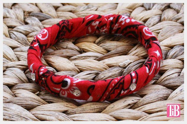 DIY Bandana Bracelets rhinestones by Trinkets in Bloom