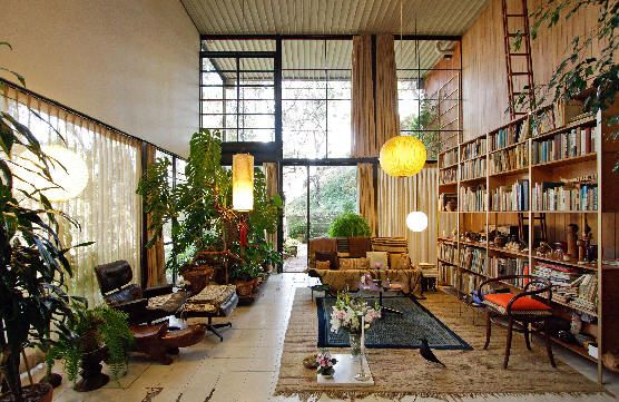 Charles and Ray designed and built their own home in Pacific Palisades, California