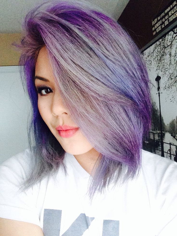 I naturally have black hair and bleached it 4 times and toned it with Wella's infamous T18. Then, diluted some Jerome Russell's pubky colour...