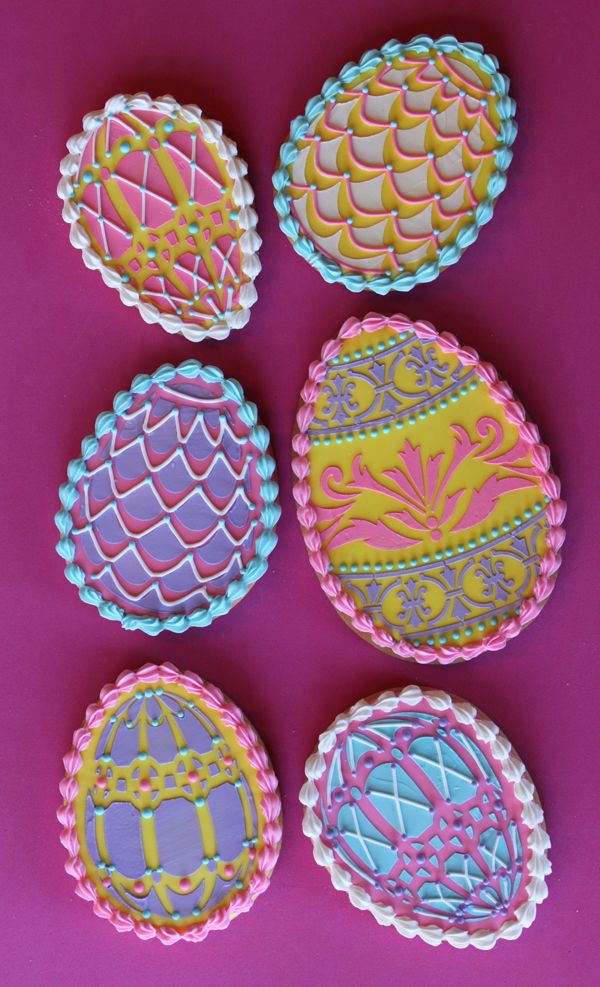 Julia Usher | Recipes for a Sweet Life | Home - stenciled Easter eggs