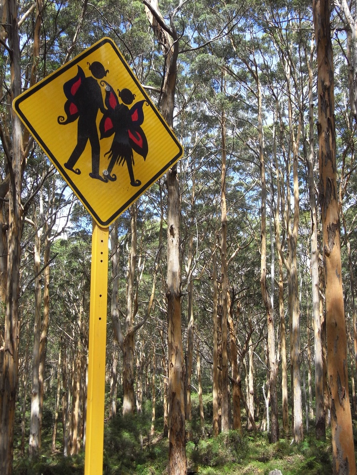 Awesome road sign on a back road near Margaret River, Australia