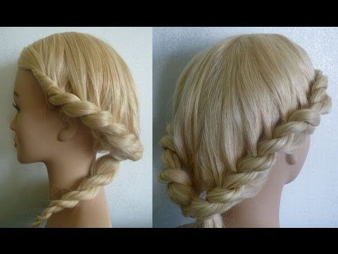Причёска с плетением на каждый день,в школу.Витая коса-Жгут.Braid Hairstyles.Coiffures - YouTube