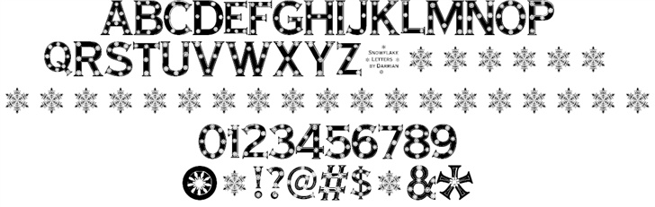 Snowflake Letters font by Darrian Lynx - FontSpace