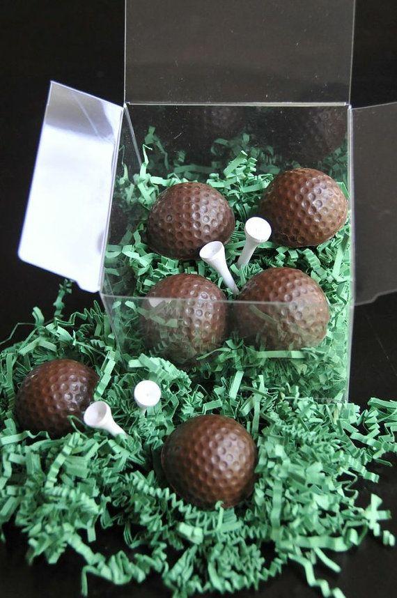 Dark Chocolate Golf Ball Truffles 4 Pieces by ZivaChocolates- Paka