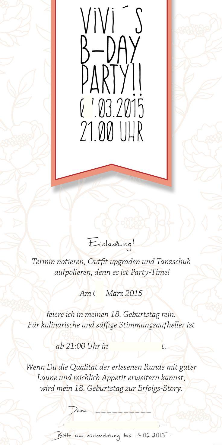 Einladung zum 18!! self-made