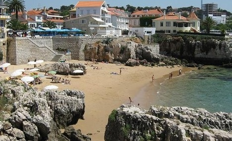 Cascais - beach/resort town on outskirts of Lisbon.  It was near here that we went into a local store and saw milk sitting out on the floor.  Apparently it's ok cause it's not pasteurized.