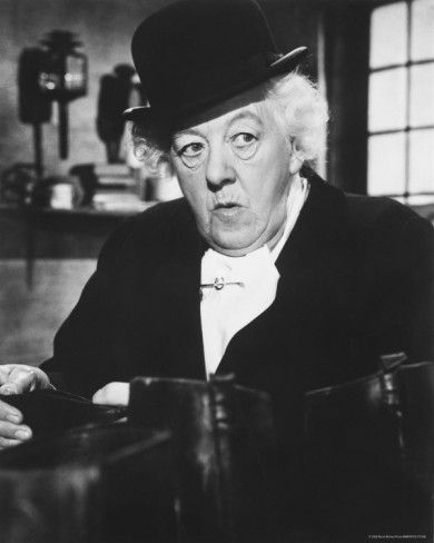 Margaret Rutherford (best Miss Marple ever in my opinion!)