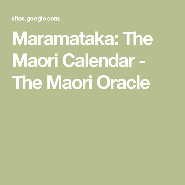 Maramataka: The Maori Calendar - The Maori Oracle