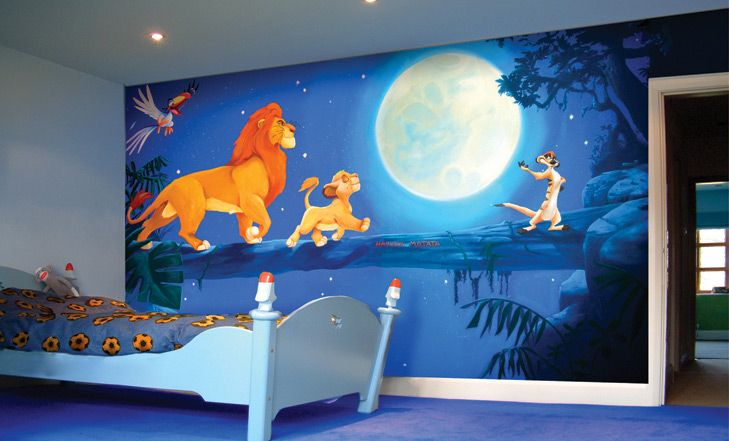 The Lion King Mural for Kids Room/ I need this!!