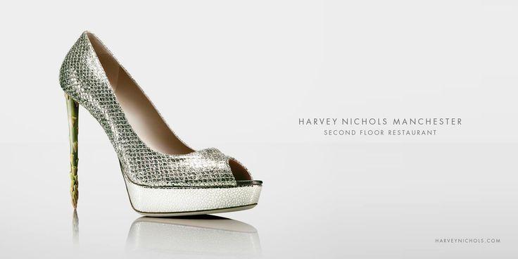Harvey Nichols Manchester: Shoe      Harvey Nichols Manchester. Second Floor Restaurant.  Advertising Agency: TBWA\Manchester, UK