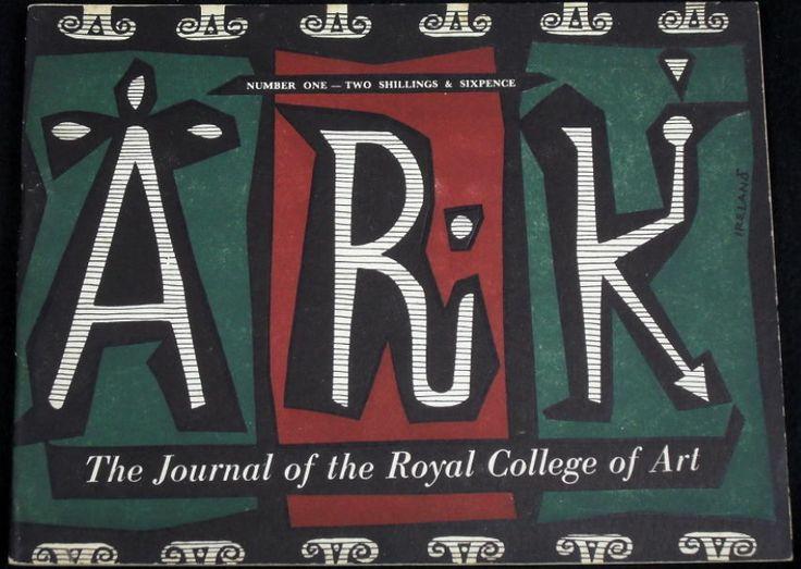 ARK - Royal College of Art, mid-century graphics, 1950s artwork