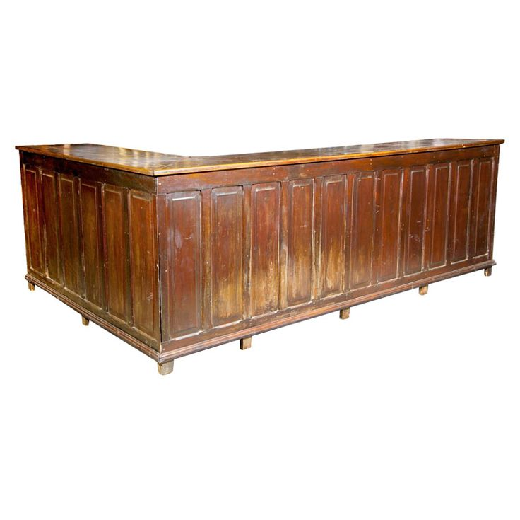 Paneled Bar brazil 20th century l shaped bar counter multiple drawers
