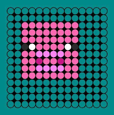 minecraft perler bead patterns | Minecraft Pig Face Perler Bead Pattern | Bead Sprites | Animals Fuse ...