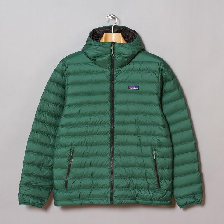 Patagonia Down Sweater Hoody in Malachite Green