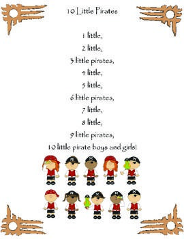 10 Little Pirates Poem / Shared Reading