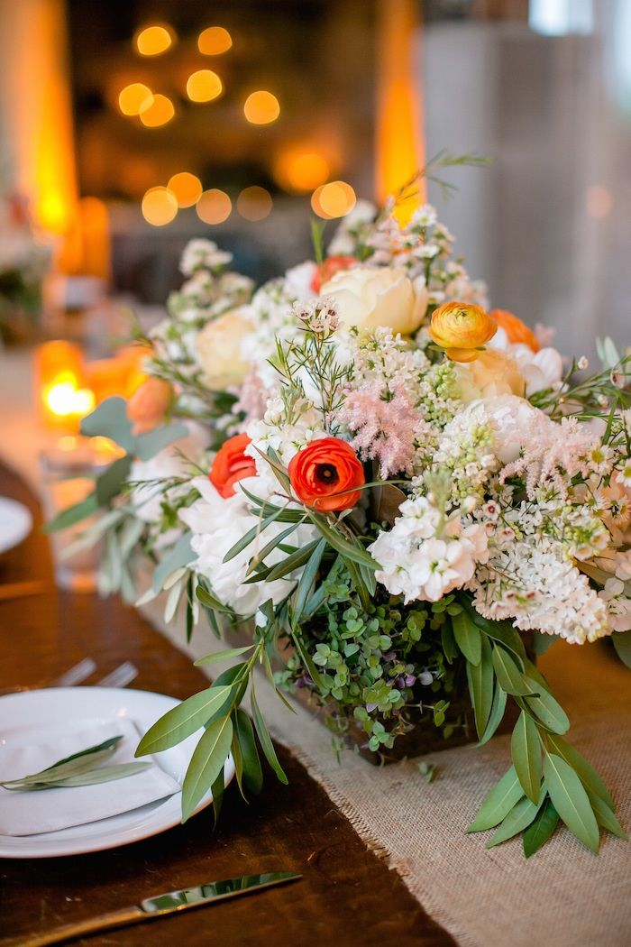 Rustic Chic Texas Wedding From Pearl Events Austin from The Nichols - wedding centerpiece idea