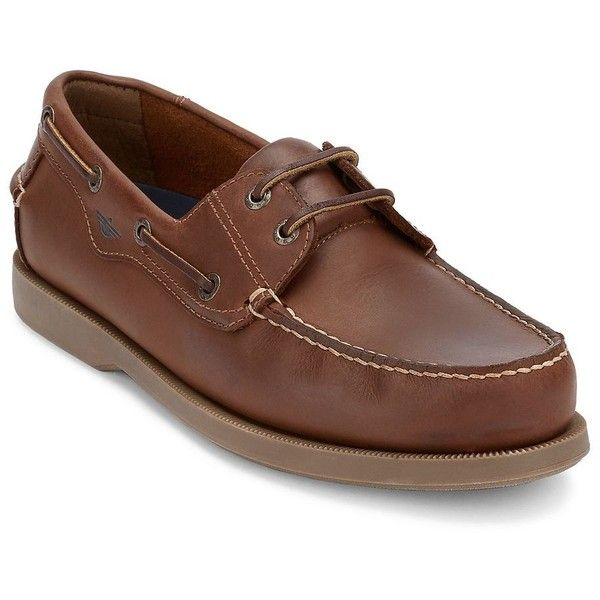 Dockers® Castaway Men's Boat Shoes ($75) ❤ liked on Polyvore featuring men's fashion, men's shoes, men's loafers, brown, mens sperry topsiders, mens boat shoes, mens shoes, mens deck shoes and mens brown shoes