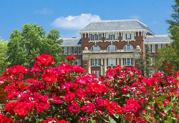 Lee Hall and Roses - Mississippi State University