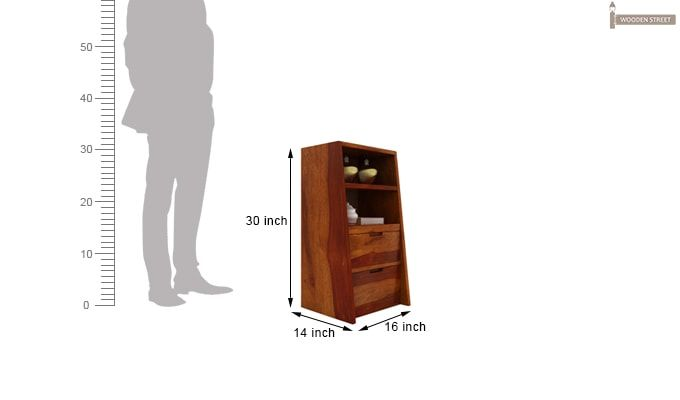 Bolivia Bedside Table (Honey Finish)-6