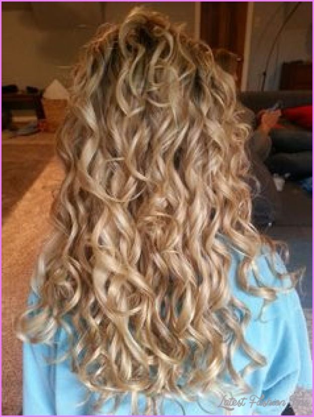cool Spiral curl perm for long hair