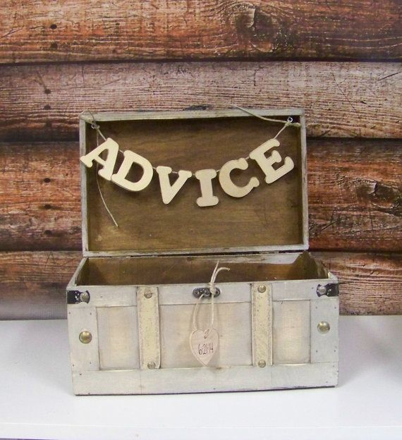 Wedding Advice Box, Card Box, Shabby Chic Wedding Decor, Shabby Chic Advice or Card Box