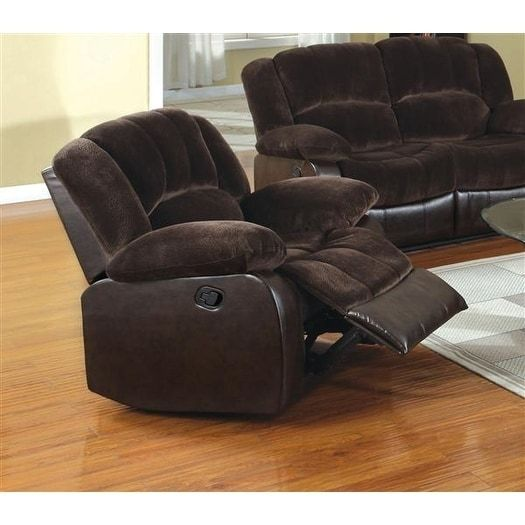 Benzara Winchester Transitional Brown Leatherette Recliner Chair (100% polyester)